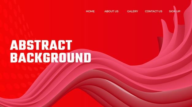 Fondo abstracto de onda degradado rojo vector premium