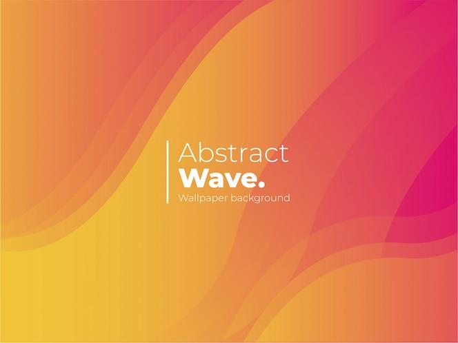 Fondo abstracto de la onda con formas coloridas
