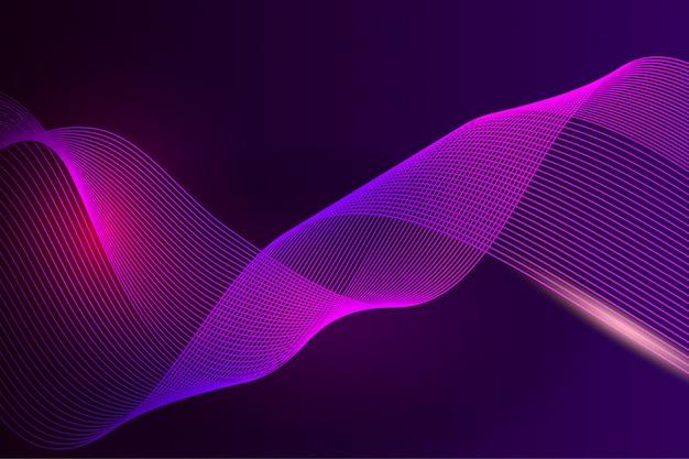 Fondo abstracto de onda de línea