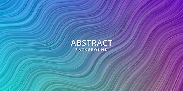 Fondo abstracto de onda. papel pintado de rayas. portada de banner