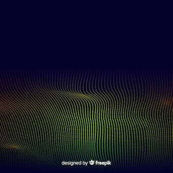 Fondo abstracto onda de partículas de ecualzador
