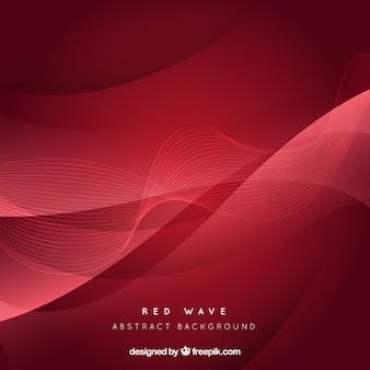 Fondo abstracto de onda roja