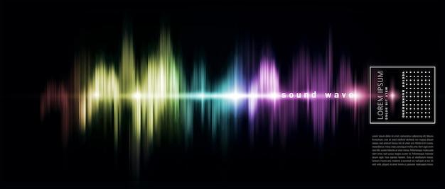 Fondo abstracto con una onda de sonido de color