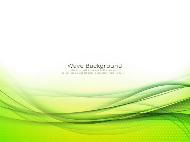 Fondo abstracto de la onda verde