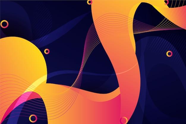 Fondo abstracto de onda vibrante