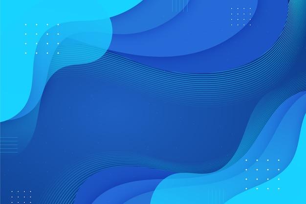 Fondo abstracto con ondas azules clásicas