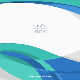 Fondo abstracto con ondas azules