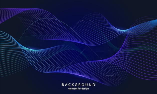 Fondo abstracto ondas coloridas con líneas.