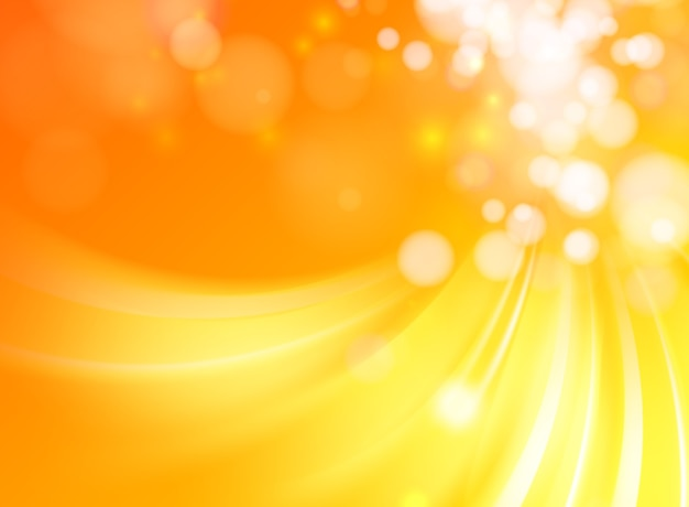 Fondo abstracto ondas naranja con líneas suaves