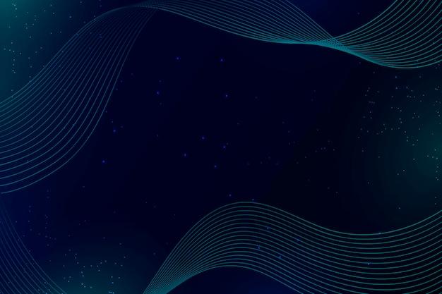 Fondo abstracto de ondas y puntos azules