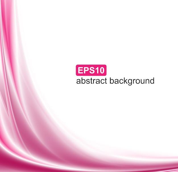 Fondo abstracto ondas rosa