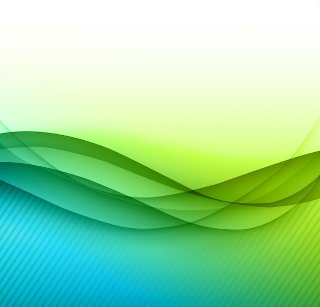 Fondo abstracto de las ondas verdes