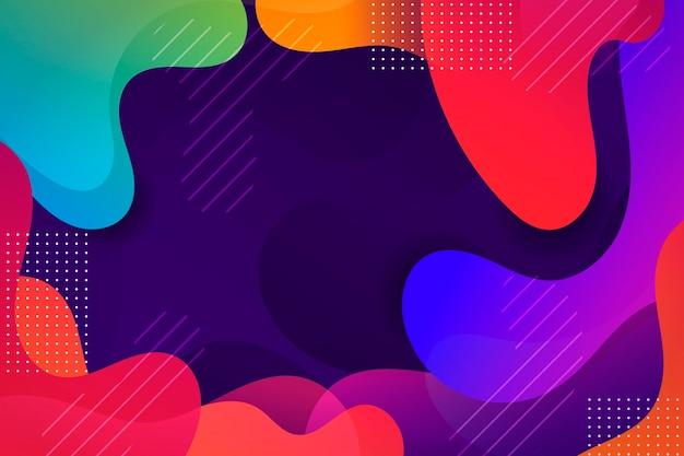 Fondo abstracto ondulado colorido