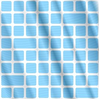 Fondo abstracto de opart con rectángulos azules y líneas