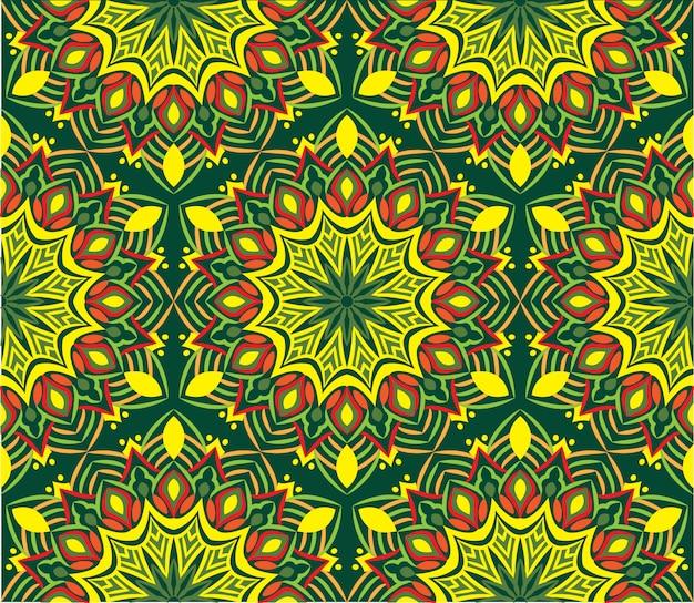 Fondo abstracto ornamental del diseño de la mandala. patrón sin costuras