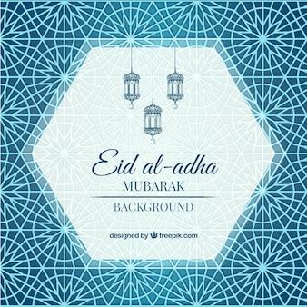 Fondo abstracto ornamental de eid al-adha