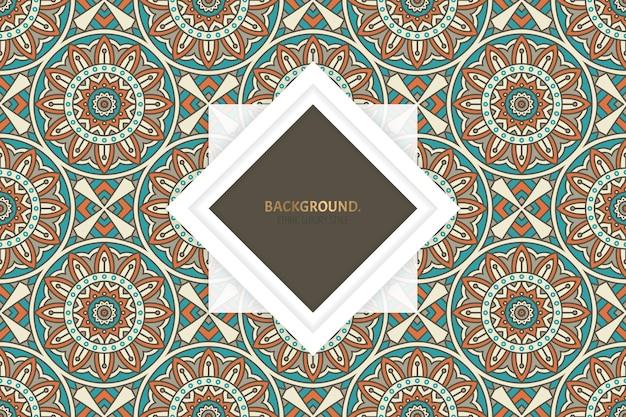 Fondo abstracto ornamental con motivo islámico