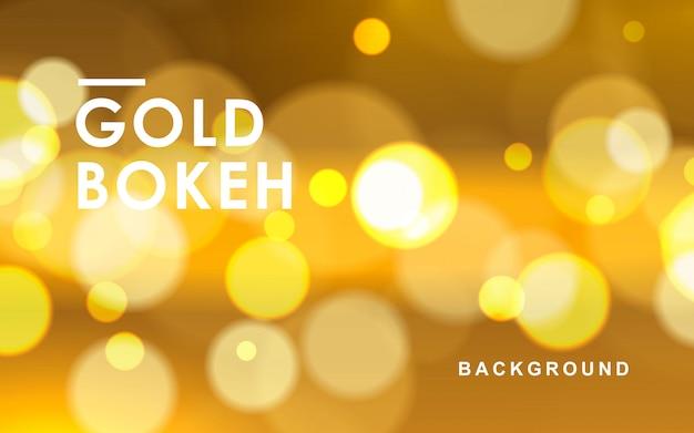 Fondo abstracto de oro bokeh