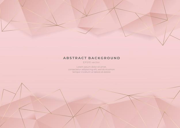 Fondo abstracto de oro rosa