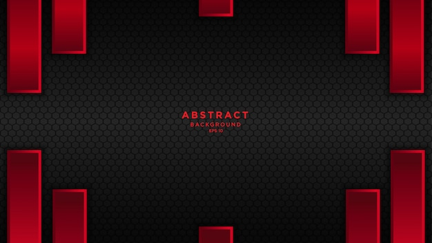 Fondo abstracto oscuro con capas de superposición negro rojo.