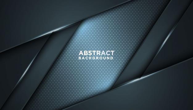 Fondo abstracto oscuro con capas superpuestas. concepto de diseño de lujo.