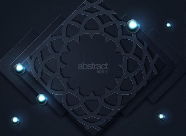 Fondo abstracto oscuro con capas superpuestas negras