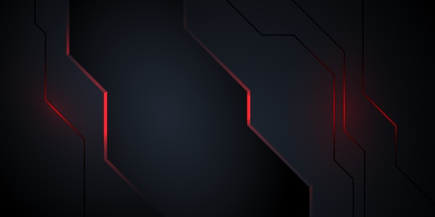 Fondo abstracto oscuro moderno con luz roja