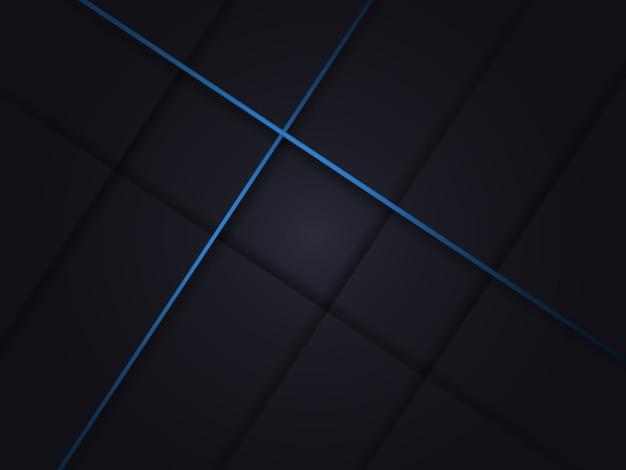 Fondo abstracto oscuro moderno con sombras y líneas azules.