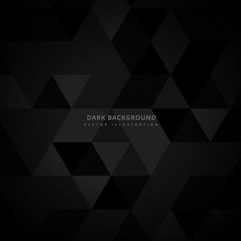 Fondo abstracto oscuro con triángulos