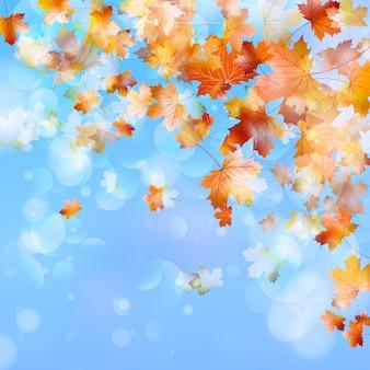 Fondo abstracto de otoño.
