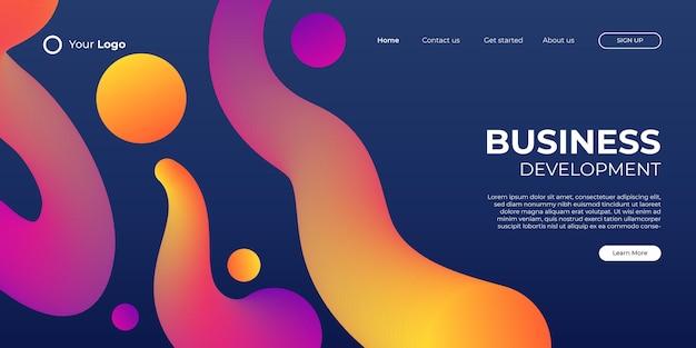Fondo abstracto para la página de inicio de negocios con forma moderna y concepto de tecnología simple. plantilla de ilustración de vector de bloque de página de destino de diseño web corporativo.