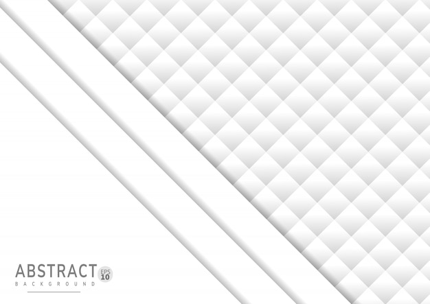 Fondo abstracto de papel blanco con estilo 3d
