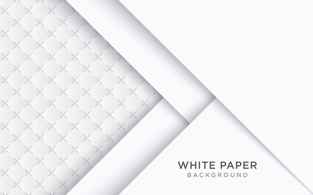 Fondo abstracto de papel blanco con estilo 3d.