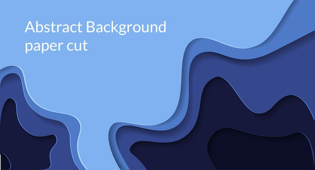 Fondo abstracto del papercut 3d con color azul