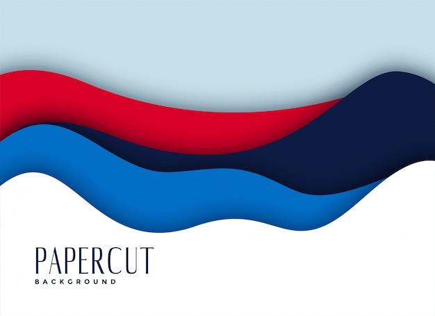 Fondo abstracto papercut capas 3d