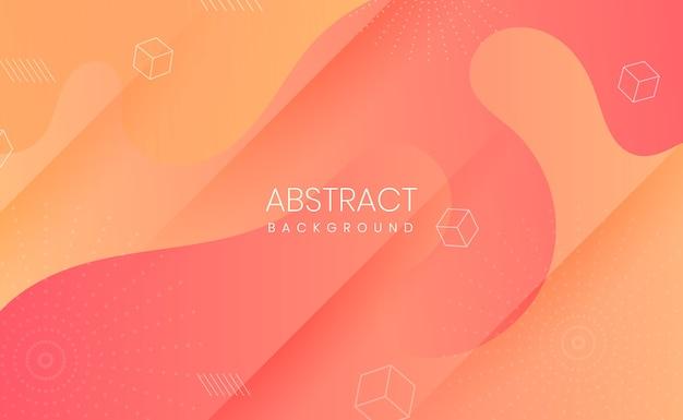 Fondo abstracto papercut degradado naranja y amarillo
