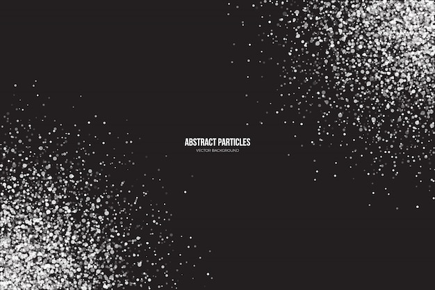 Fondo abstracto de partículas brillantes de brillo blanco
