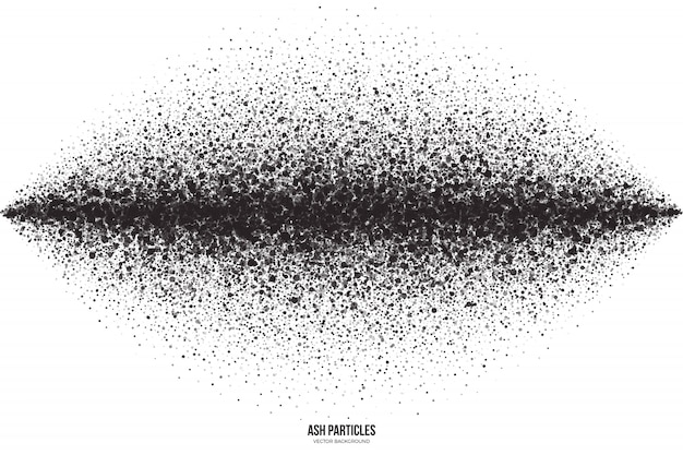Fondo abstracto de partículas de ceniza negra