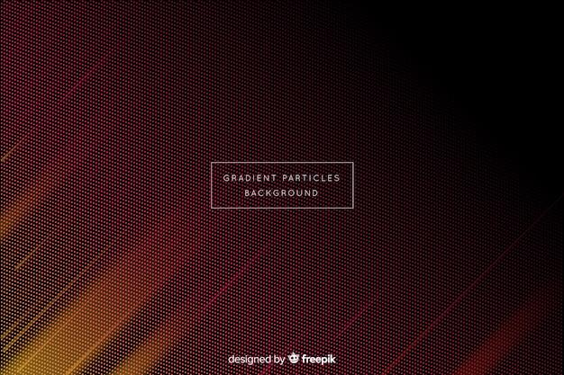 Fondo abstracto con partículas circulares en degradado