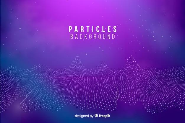 Fondo abstracto partículas ecualizador