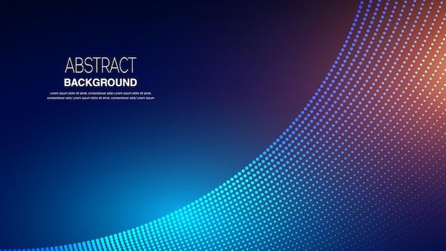Fondo abstracto con partículas de onda