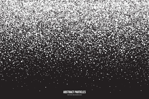 Fondo abstracto de partículas que caen brillantes de brillo blanco