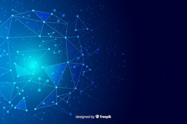 Fondo abstracto de partículas de tecnología