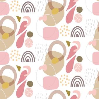 Fondo abstracto con un patrón de diseño de formas dibujadas a mano