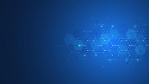 Fondo abstracto de patrón de forma de hexágonos