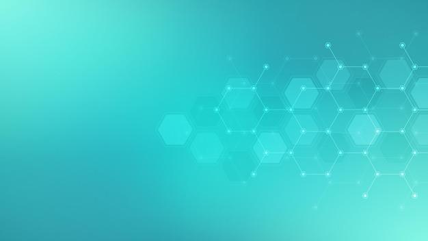 Fondo abstracto con patrón de hexágonos.