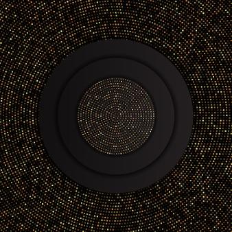 Fondo abstracto con patrón de puntos de oro