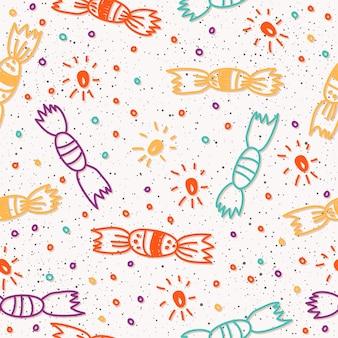 Fondo abstracto de patrones sin fisuras. doodle de patrones sin fisuras hechos a mano para tarjetas de diseño, invitaciones, camisetas, libros, pancartas, carteles, álbumes de recortes, álbumes, telas textiles, prendas de vestir, bolsas de impresión, etc.