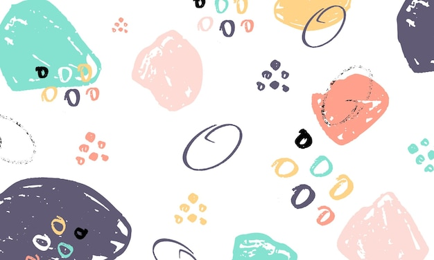 Fondo abstracto con pinceladas en estilo memphis