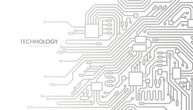 Fondo abstracto de placa de circuito